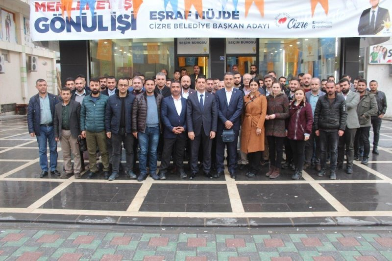 Sendika temsilcilerinden AK Parti adayı Müjde'ye ziyaret