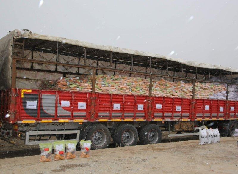 Sivas'ta çiftçilere tohum dağıtımı yapıldı