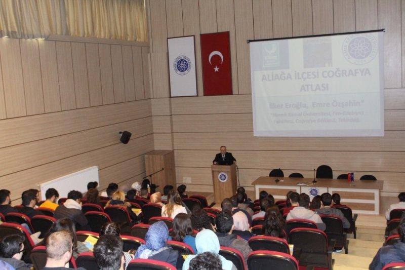 """""""Türkiye'nin İlk İlçe Atlası: Aliağa Coğrafya Atlası"""" konferansı"""