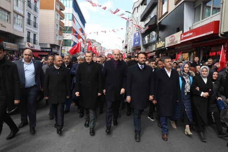 Cumhur İttifakı'nın Zeytinburnu'nda büyük yürüyüşü