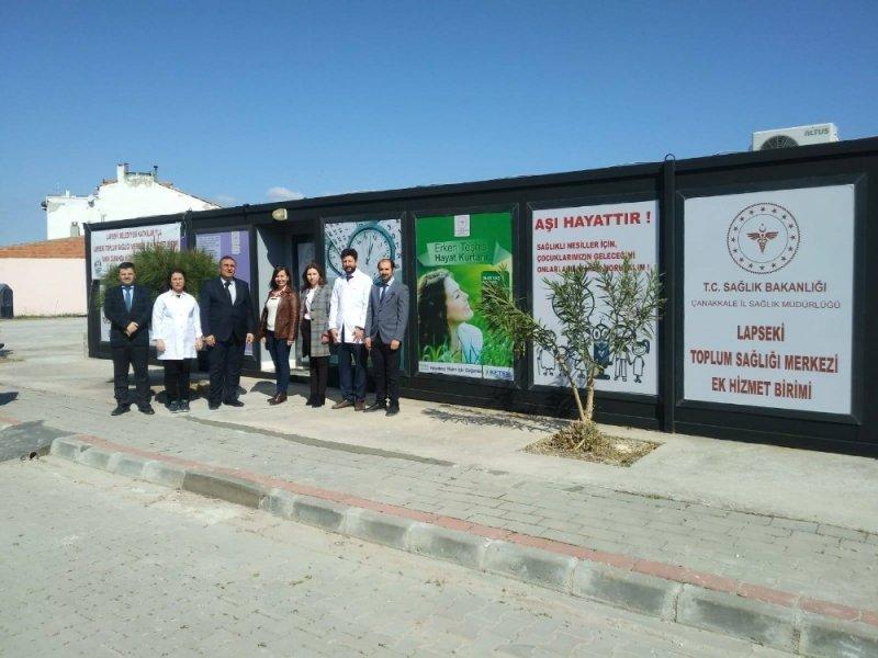 Lapseki'ye TSM Ek Hizmet Birimi açıldı