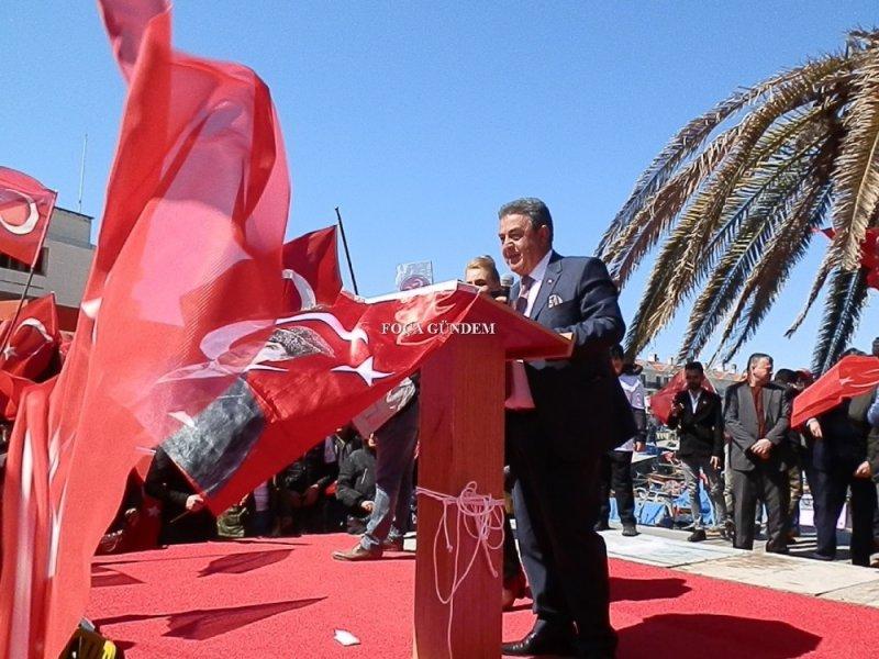 Cumhur İttifakı'nın Foça Başkan adayı Serdar Mersin'den son miting