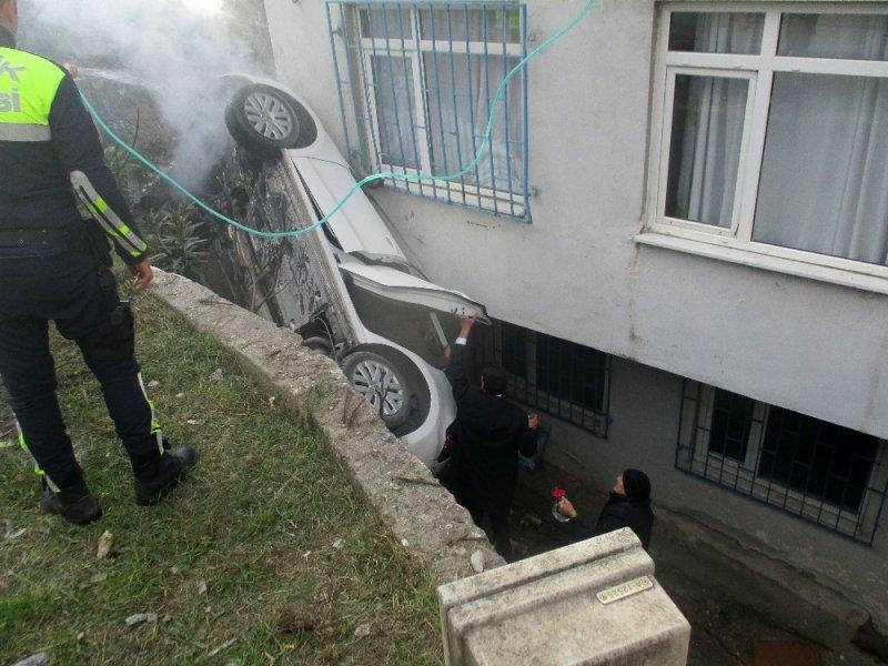 Cumhurbaşkanı Erdoğan'ın oy kullanacağı okulun yanında inanılmaz kaza