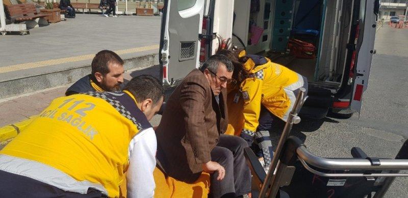Oy vermek için tedavi gördüğü hastaneden ambulansla Silivri'ye götürüldü