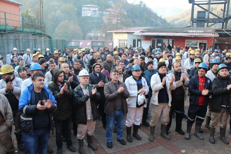 GMİS Yönetim Kurulu, Üzülmez'de madenciyi ziyaret etti