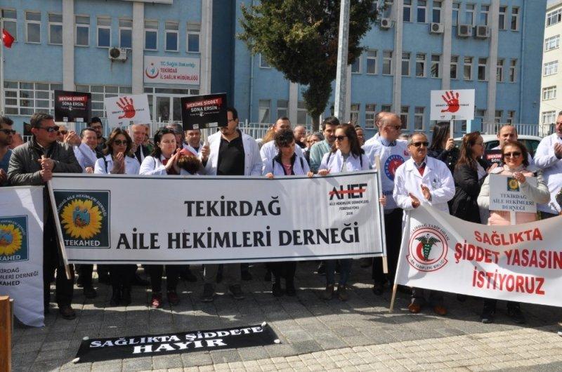 Sağlıkta şiddete bir kınama da Tekirdağ'dan