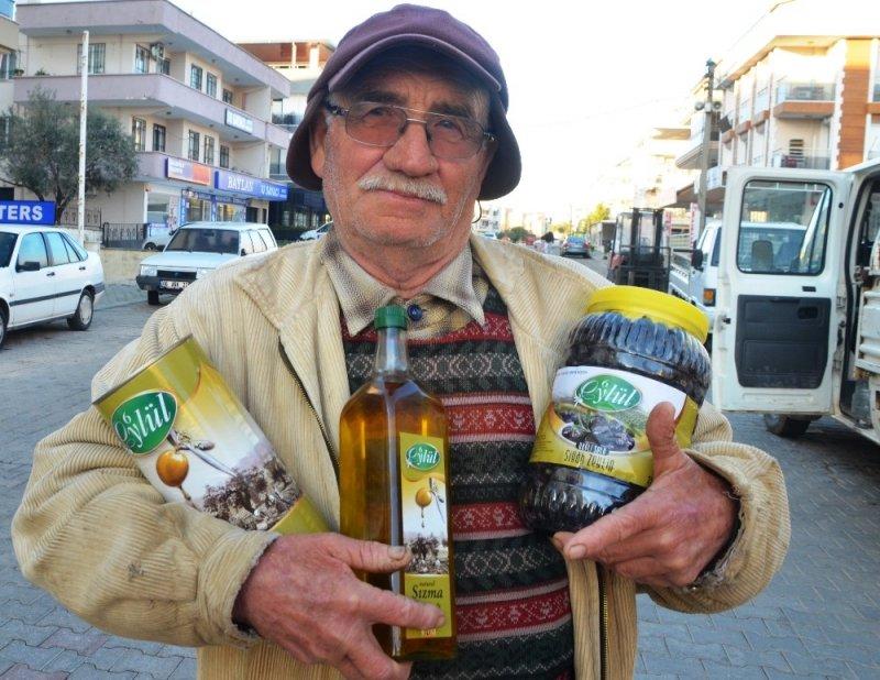 67'lik çiftçi kendi ürettiği zeytin ve zeytinyağına patent aldı