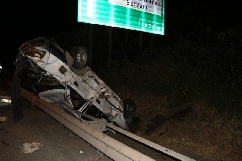 Adana'da otomobil takla attı: 1 yaralı