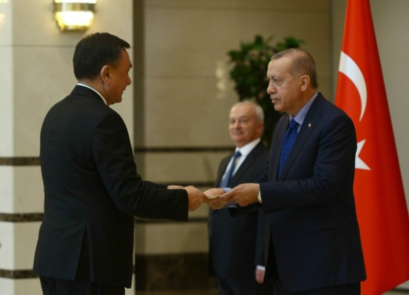 Cumhurbaşkanı Erdoğan, Kırgızistan Büyükelçisini kabul etti