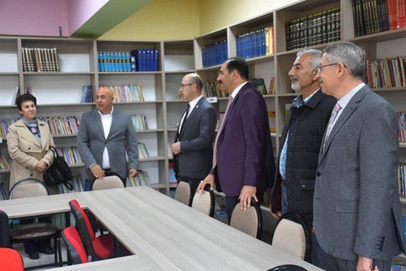 Çağlayan İlkokulunda kütüphane açılışı yapıldı