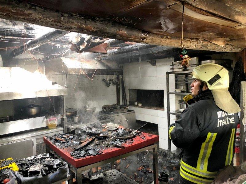 Karabağlar yaylasında işyeri yangını