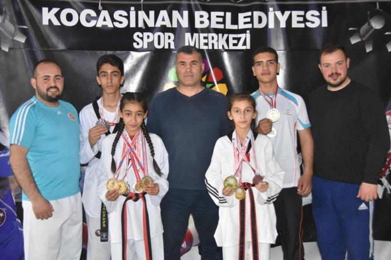 Kocasinan'da şampiyon sporcular yetişiyor