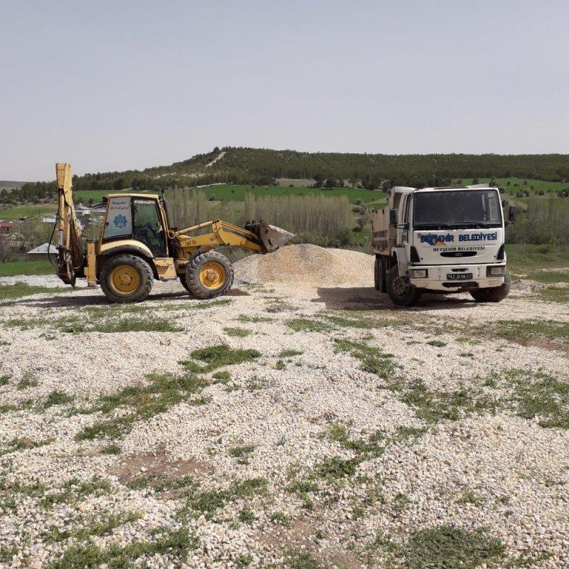 Beyşehir'de yayla yolları yaza hazırlanıyor