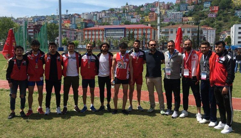 OMÜ Atletizm Takımı başarılarını madalyalarla taçlandırdı