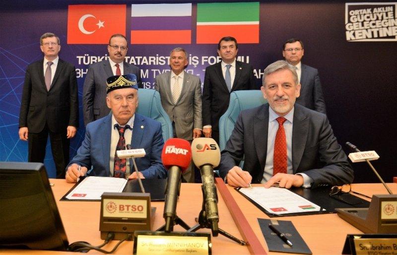 BTSO'dan Türkiye-Tataristan İş Forumu