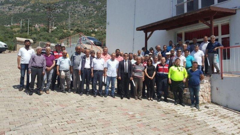 Kaş'ta trafik güvenliği semineri