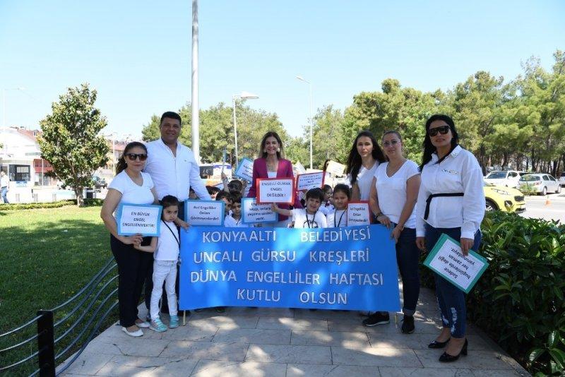 Konyaaltı Belediyesi Kreşlerinden farkındalık etkinliği