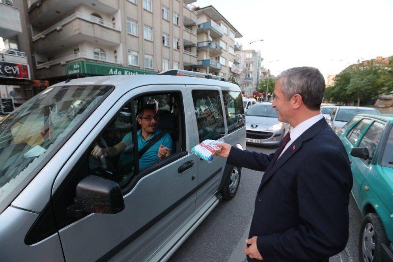 Vatandaşlardan iftara beş kala projesine tam not