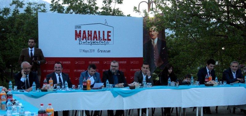 """""""Uyum Mahalle Buluşmaları""""nın üçüncüsü Erzincan'da gerçekleştirildi"""
