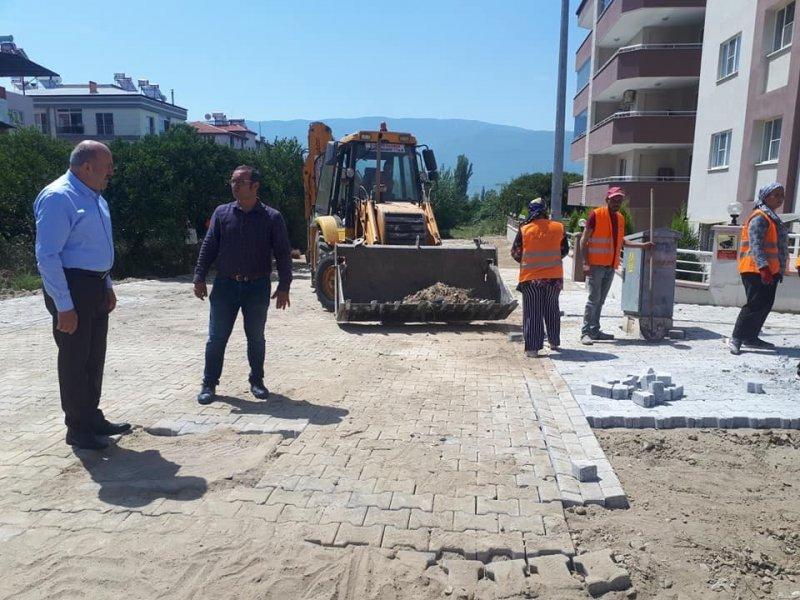 Başkan Ertürk yol çalışmalarını yerinde inceledi