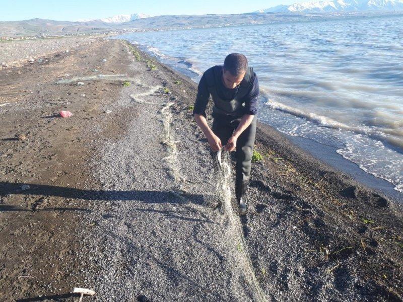 Van'da 750 kilo inci kefali balığı ele geçirildi