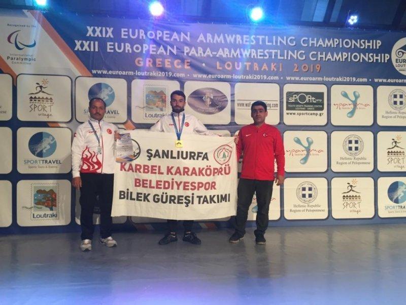 Karaköprü Belediyesporlu sporcu Avrupa şampiyonu oldu