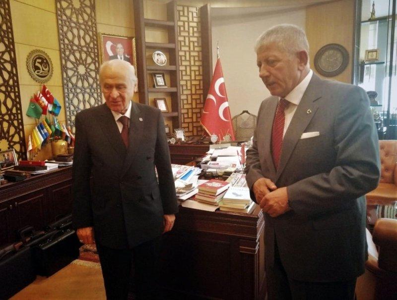 Amasya Belediye Başkanı Sarı, MHP Genel Başkanı Bahçeli'yi ziyaret etti