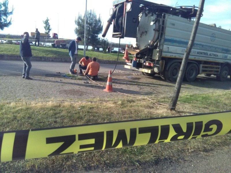 Trabzon'da bir işçi kanalizasyonda akıntıya kapılarak kayboldu