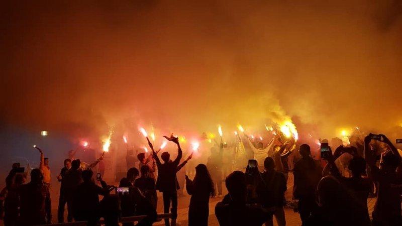 Emet'te Galatasaray taraftarları kutlama yaptı