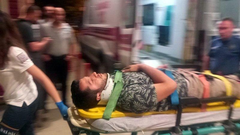Bursa'da motosikletli genç ölümden döndü