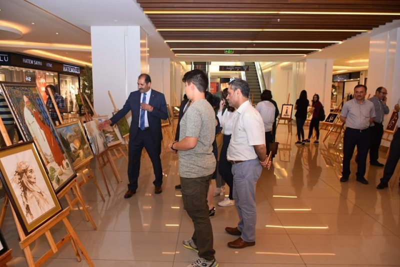 Erzincan Fen Lisesi filografi, resim ve rölyef çalışmalarını sergiledi