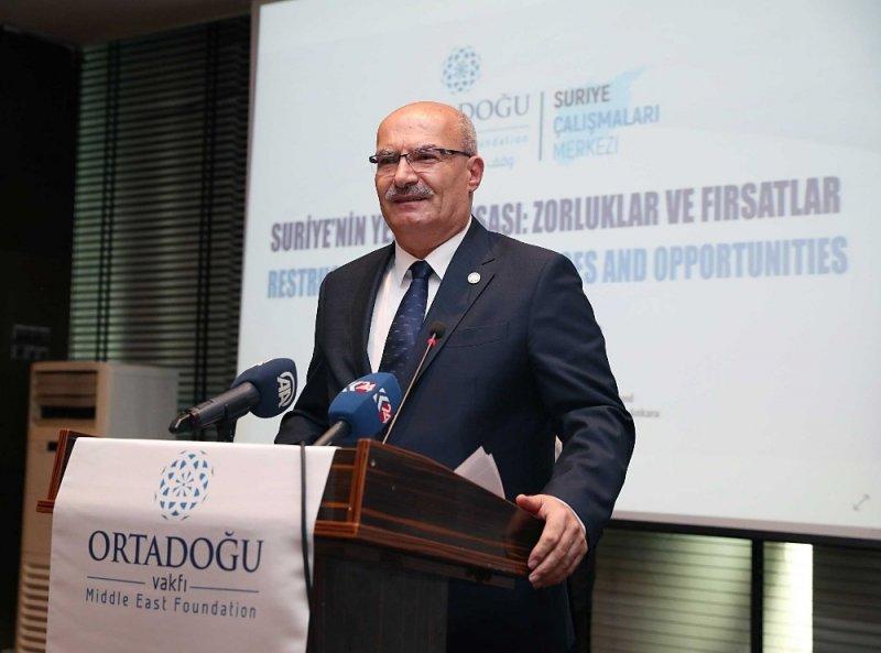 """ATO Başkanı Baran """"Suriye'nin Yeniden İnşası Çalıştayı""""na katıldı"""