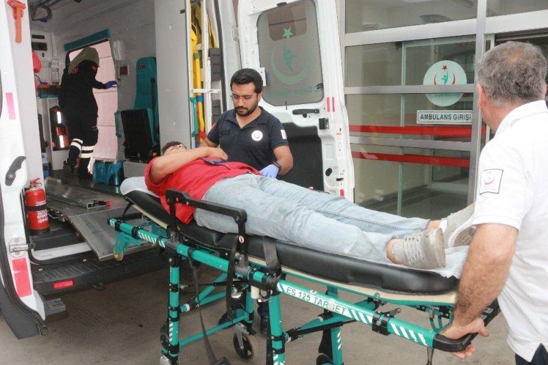 Devrilen elektrikli bisikletin sürücüsü yaralandı