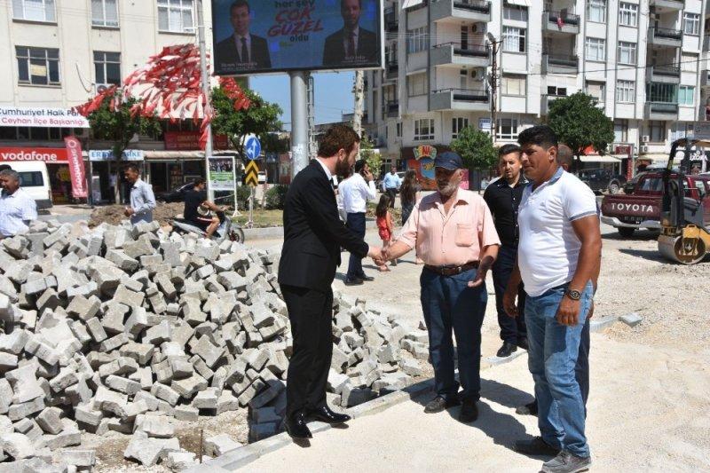 Ceyhan'da parke üstü asfalt dönemi bitti