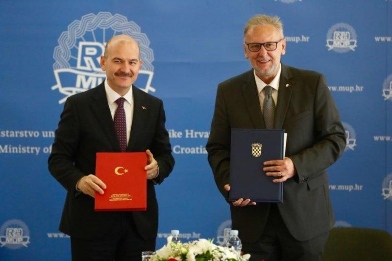 Bakan Soylu, Hırvatistan'da mevkidaşı Bozinovic ile görüştü