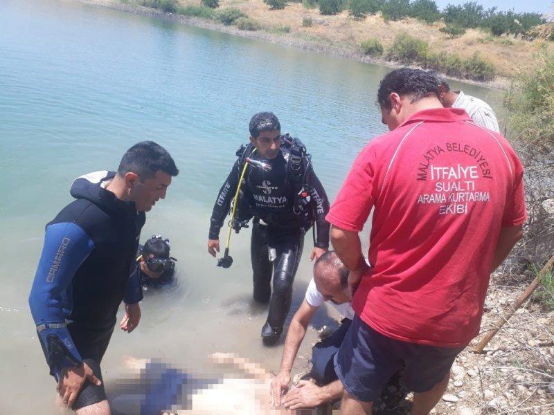 Malatya'da baraj gölüne giren genç boğuldu