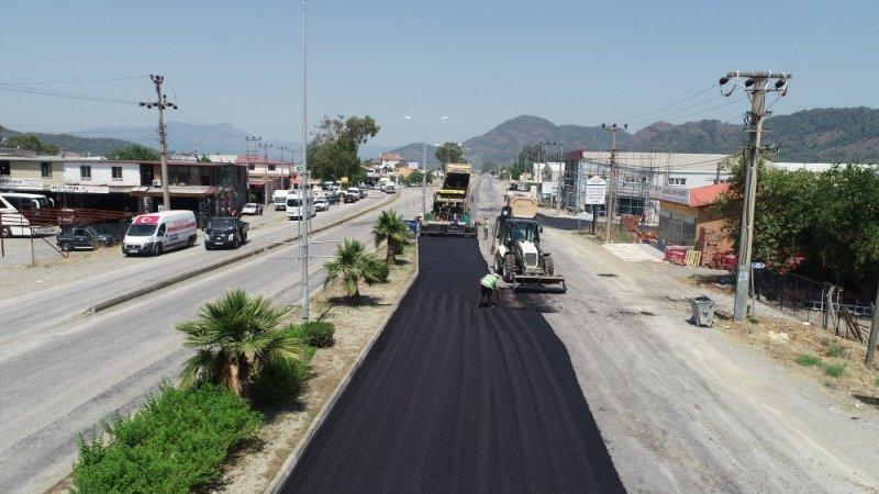 Dalyan turistik yolu asfalta kavuştu