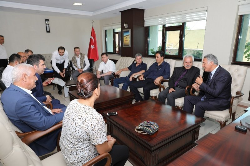 TÜM-İŞ Konfederasyonu'ndan Mızraklı'ya ziyaret