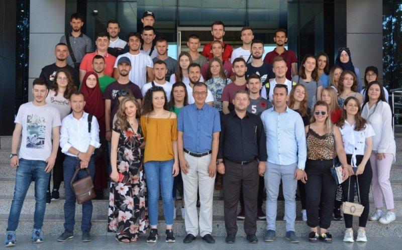 Kuzey Makedonyalı öğrencilerden ÇOMÜ'ye ziyaret