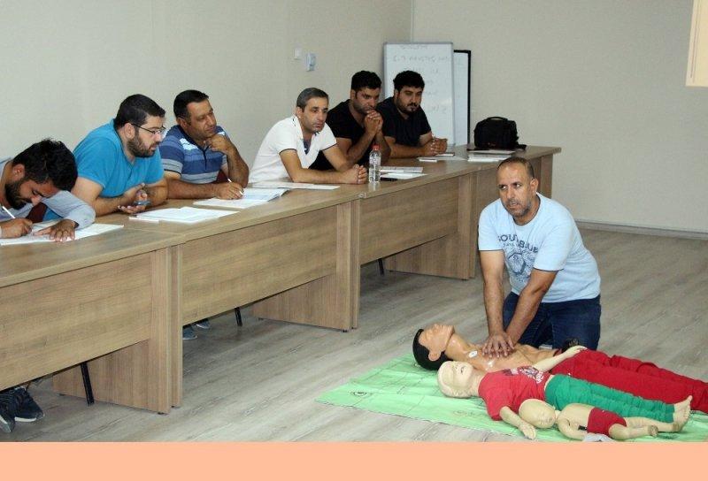 Mardin'de Dicle Elektrik çalışanlarına sertifikalı ilk yardım eğitimi
