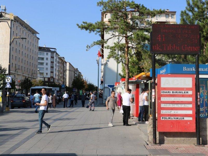 Sivas'ta kavurucu sıcaklar