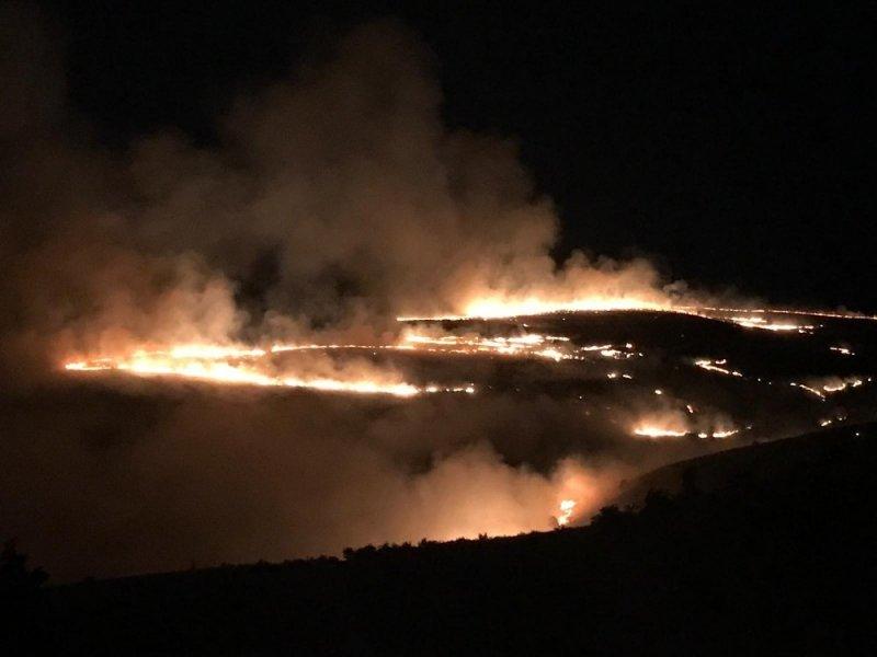 Tokat'ta örtü altı yangını