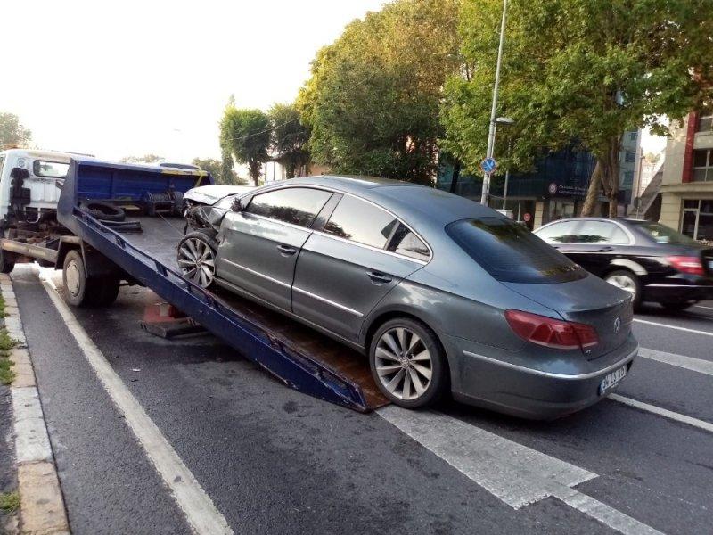 Vatan Caddesinde trafik kazası: 1 yaralı