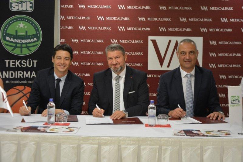 Teksüt Bandırma BK'nın sağlık sponsoru VM Medical Park Bursa oldu