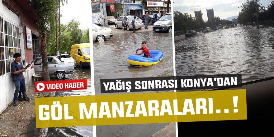 Yağış sonrası Konya'dan göl manzaraları..!