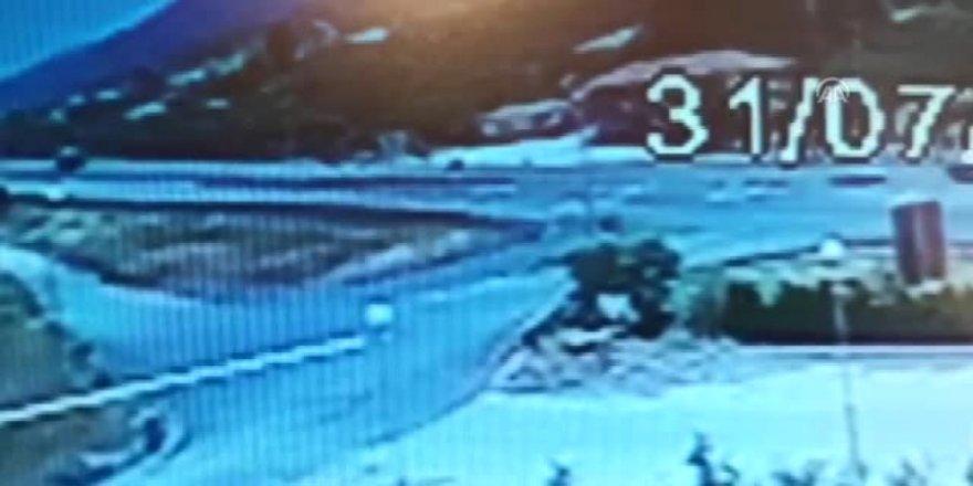 Konya'daki 2 Kişinin Öldüğü Kaza Güvenlik Kamerasında