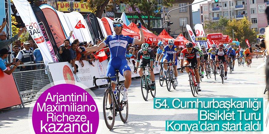 54. Cumhurbaşkanlığı Türkiye Bisiklet Turu Konya Etabı'ndan görüntüler