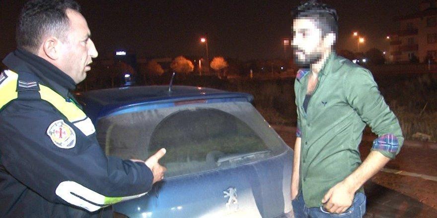 Alkollü Sürücü Polise Zor Anlat Yaşattı