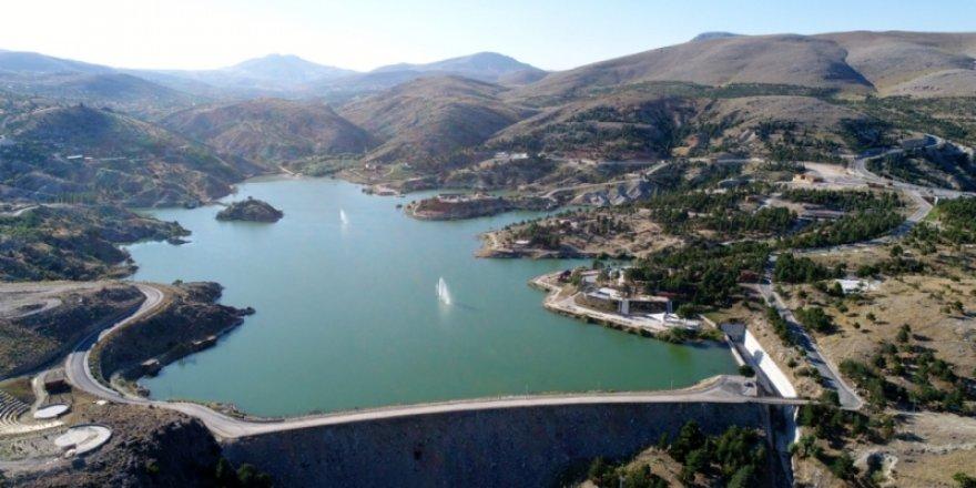 Sille Barajı havadan görünüm