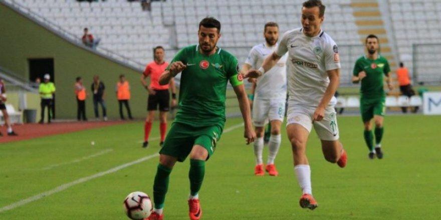 Konyaspor ligin son maçında berabere kaldı